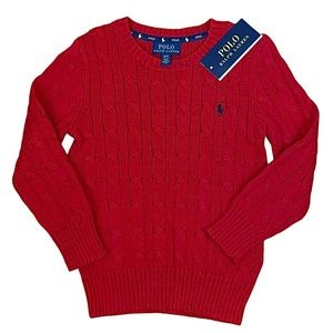Polo Ralph Lauren Toddler Boys Cable Knit Sweater